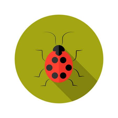 lady bug: Illustration von Red Lady Bug Flach Symbol Illustration