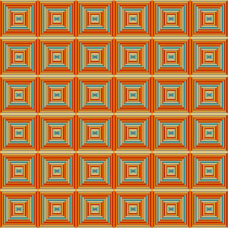 orange pattern: Illustration of colorful Seamless Squared Orange Pattern