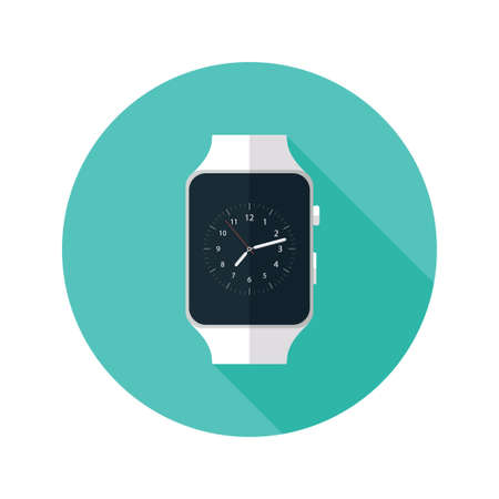 wrist watch: Illustration of Light Smart Watch Flat Icon