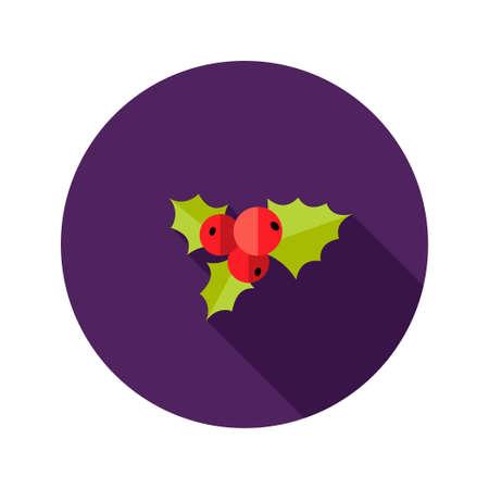 rowanberry: Illustration of Christmas Rowanberry Flat Icon