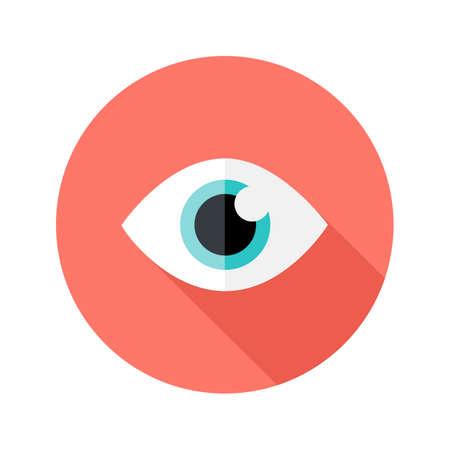 비전 눈 원형 평면 아이콘의 그림