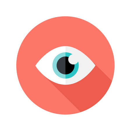 big eyes: Illustration of Vision Eye Circle Flat Icon