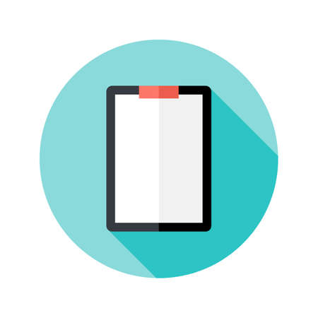 probation: Illustration of Clipboard with Paper Flat Circle Icon