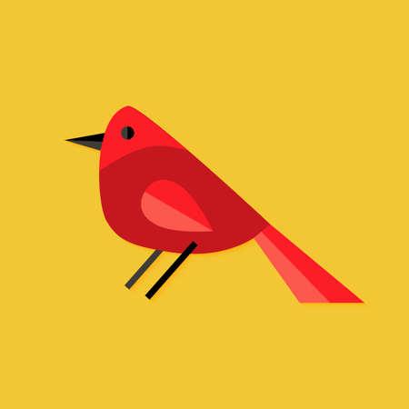 bullfinch: Illustration of Bullfinch Bird Christmas Flat Icon