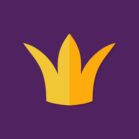 monarchy: Illustration of Christmas Crown Flat Icon