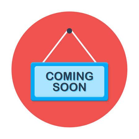 Binnenkort platte cirkel icoon. Flat gestileerde icoon cirkel Stock Illustratie