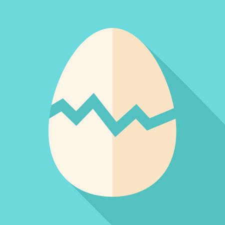 broken egg: Broken egg. Flat stylized illustration with shadow Illustration