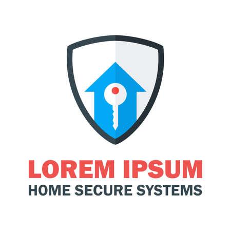 home security system: Home Security System . Vector Design Concept