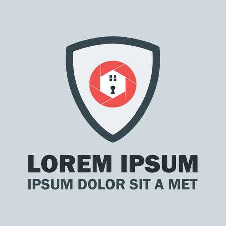 Shield Security Logo. Vector Logo Design Concept