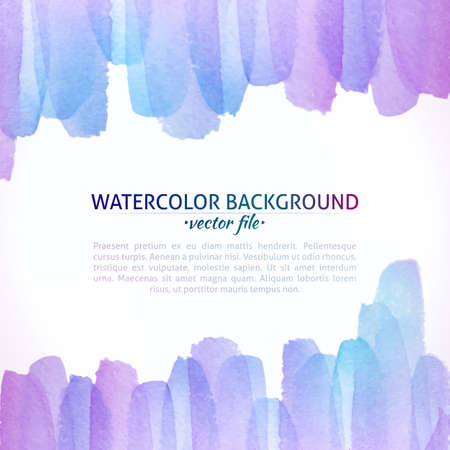 Watercolor Vector Colorful Abstract Background. Colorful Watercolor Banner for web design. Vector illustration. Advertisement and promotion background. Vector