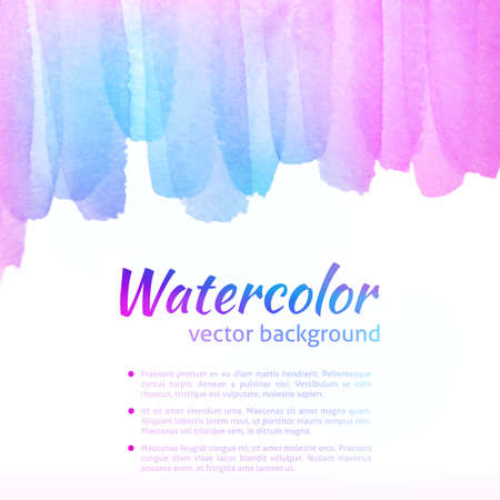 Watercolor Vector Colorful Background. Colorful Bright Abstract Watercolor Banner for web design. Vector illustration. Advertisement and promotion background. Vector