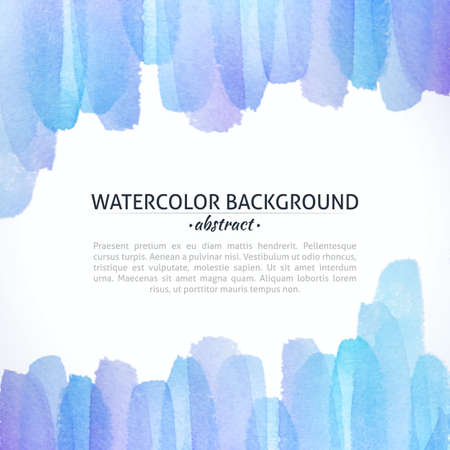 Watercolor Blue and Purple Abstract Background. Watercolor art photoshop grain and grunge vintage colorful art bit mapped graphics. Graphic arts are a raster. Abstract shape for Business background presentation and advertising. photo