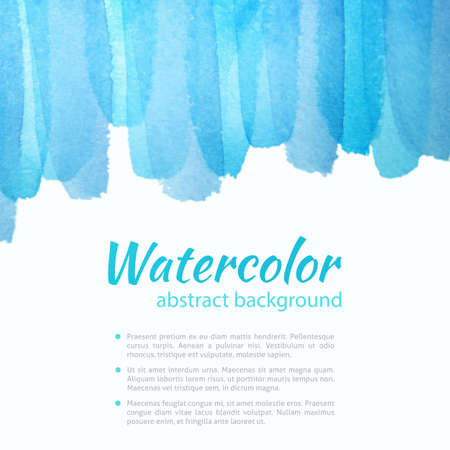 Watercolor Blue Background. Watercolor art photoshop grain and grunge vintage blue colorful art bit mapped graphics. Graphic arts are a raster. Abstract shape for Business background presentation and advertising. photo