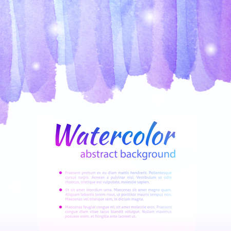 Watercolor Colorful Background. Watercolor art photoshop grain and grunge vintage purple colorful art bit mapped graphics. Graphic arts are a raster. Abstract shape for Business background presentation and advertising. photo