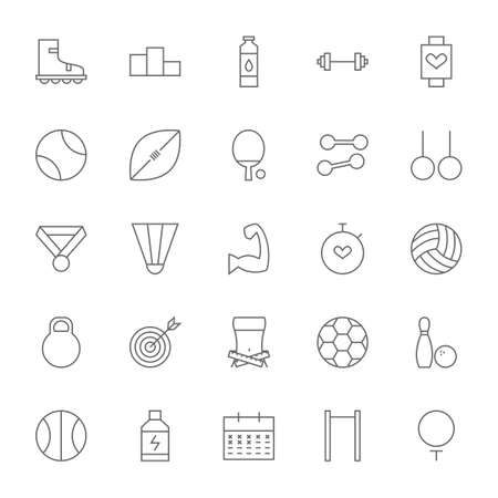 dieting: Line Sport and Fitness Big Icons Set. Vector Set of Healthy Lifestyle and Dieting Modern Thin Line Icons for Web and Mobile over White Background