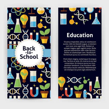 Flieger-Schablone Von Zurück In Die Schule Und Bildung Objekte Und ...