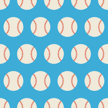 physical education: Flat Vector Seamless Sport and Recreation Baseball Pattern. Flat Style Seamless Texture Background. Sports and Playing Game Template. Healthy Lifestyle. Ball Activity and Physical Education