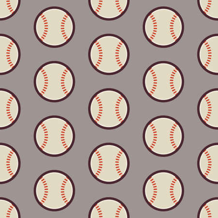 physical education: Flat Vector Seamless Sport and Recreation Activity Baseball Pattern. Flat Style Seamless Texture Background. Sports and Playing Game Template. Healthy Lifestyle. Ball and Physical Education Illustration