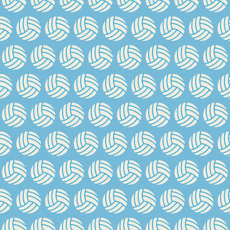 volleyball: Flat Vector Seamless Sport and Recreation Volleyball Pattern. Flat Style Seamless Texture Background. Sports and Playing Game Template. Healthy Lifestyle. Ball