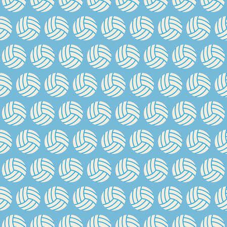 pelota de voleibol: Piso incons�til del vector Deporte y Recreaci�n del patr�n de Voleibol. Plano Estilo Textura incons�til Fondo. Deportes y Reproducci�n de la plantilla del juego. Estilo de vida saludable. Bola Vectores