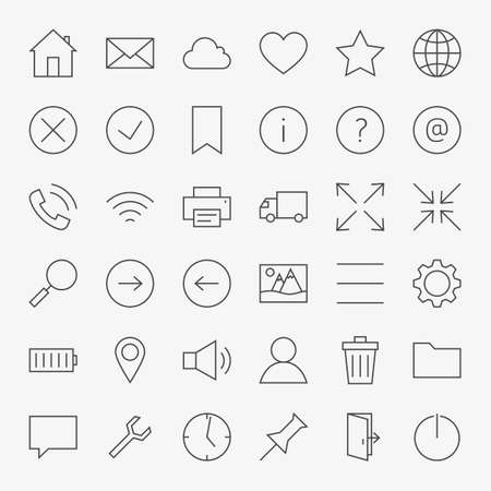 interface design: Line Web and User Interface Design Icons Big Set.