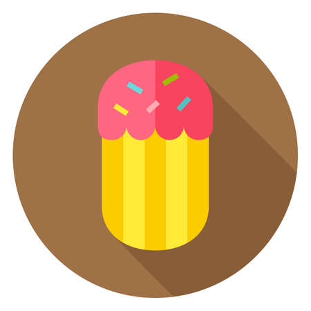 an easter cake: Easter Cake Bakery Circle Icon. Flat Design Vector Illustration with Long Shadow. Spring Christian Holiday Symbol. Illustration