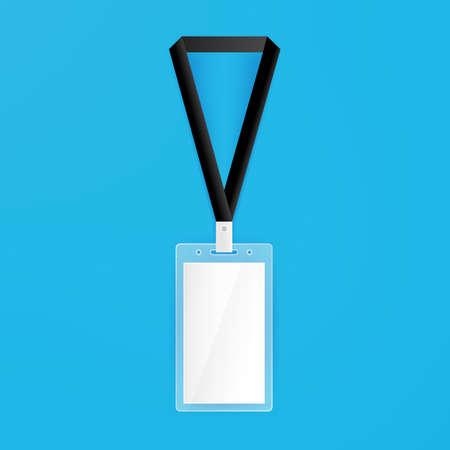 Id Card Empty Mockup. Vector Illustration of Name Badge Template. Illustration