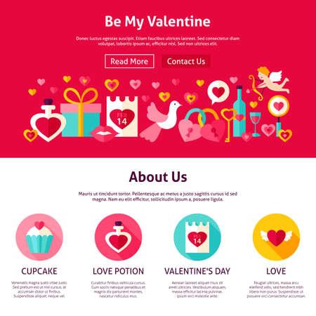 Be My Valentine Web Design
