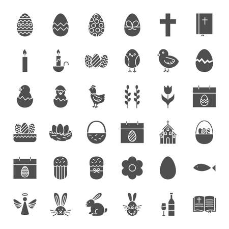 Happy Easter Solid Web Icons