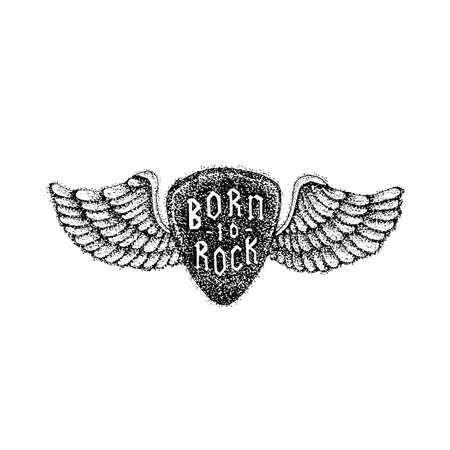 Dotwork Born to Rock