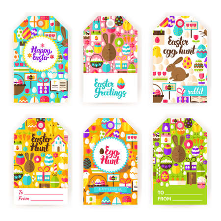 Easter gold gift labels royalty free cliparts vectors and stock happy easter gift tag labels vector negle Choice Image