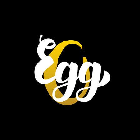 Elegant  Egg Handwritten Calligraphy.