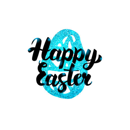 Happy Easter Handwritten Greeting Illustration