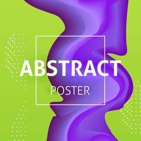 Colorful Liquid Poster Design