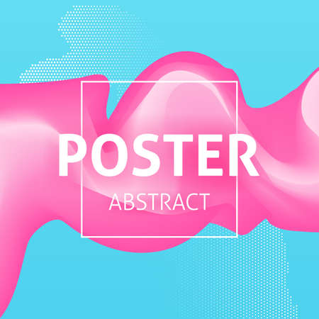 pastel colors: Colorful Poster Abstract Illustration