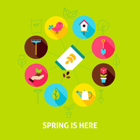 Concept Spring is Here Illustration