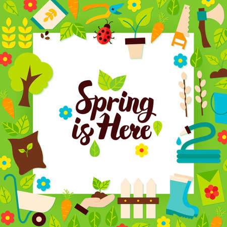 Spring is Here Paper Template