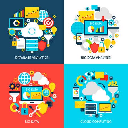 Big Data Flat-concepten Stockfoto - 79821737
