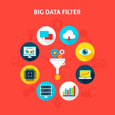 big screen: Concept Big Data Filter