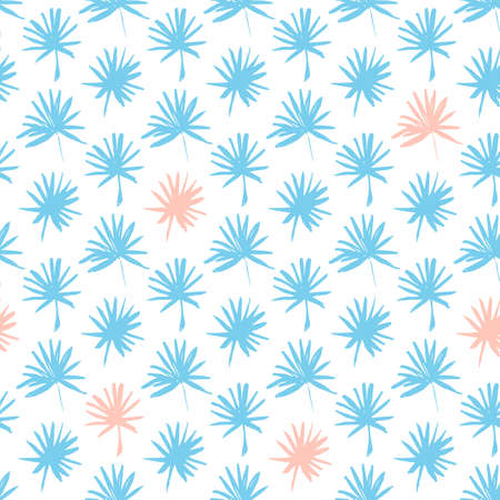 vibe: Palm Leaf Seamless Pattern. Vector Illustration of Hand Drawn Paint Tropical Plant Background.