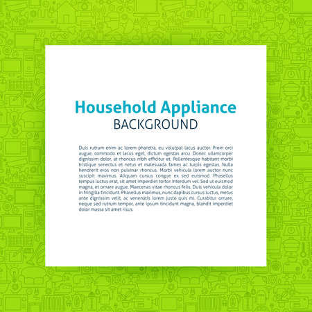 appliance: Household Appliance Paper Template Illustration