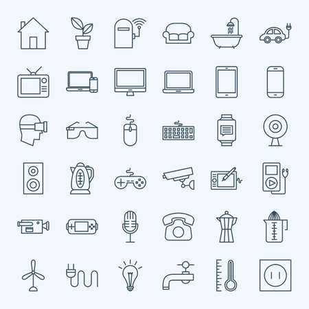 appliance: Line Household Appliance Icons