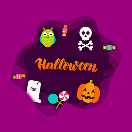 Halloween Paper Cut Concept