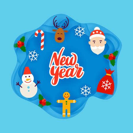 rowanberry: New Year Papercut Concept Illustration