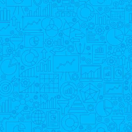 Analytics Line Tile Pattern  イラスト・ベクター素材