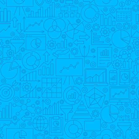 Analytics Line Tile Pattern Illustration