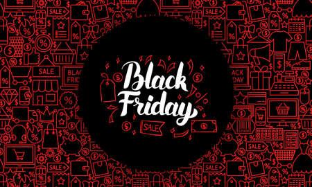 Black Friday Web Banner Ilustracja