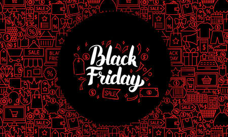 Black Friday Web Banner Illustration