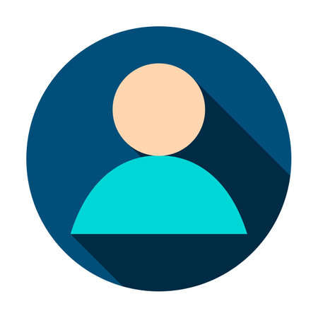 Anonymous User Circle Icon illustration.