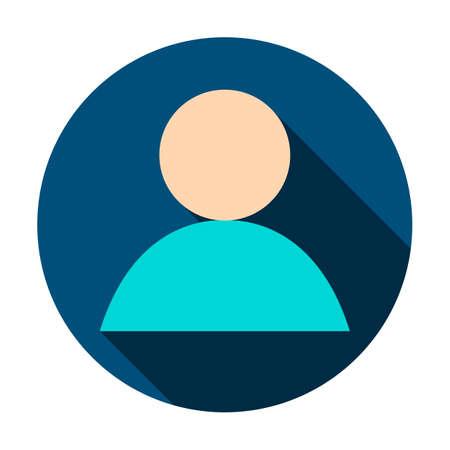 Illustrazione anonima dell'icona del cerchio dell'utente. Archivio Fotografico - 91192345